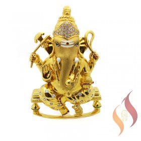 Gold Ganesh Statue