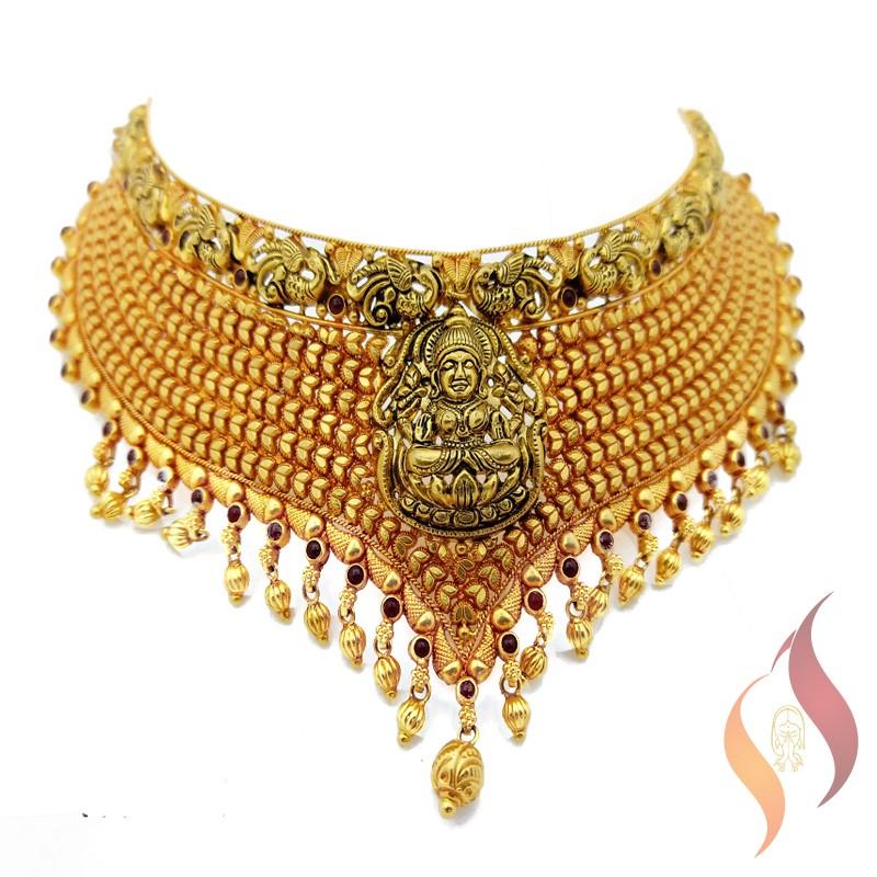Gold Antique Choker 1250024