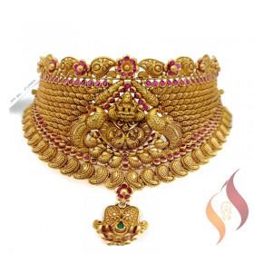 Gold Antique Choker 1250025
