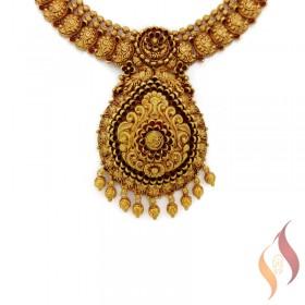 Gold Antique Wedding Set 1250027