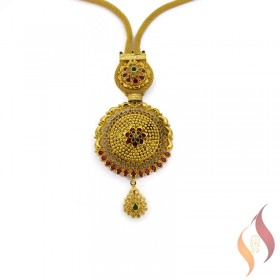Gold kolkata Fancy Necklace 1250006