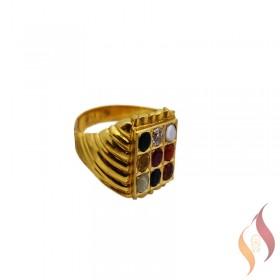 Gold Navarathnam Ring 1040007