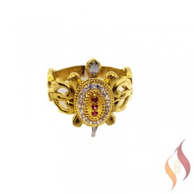 Gold Tortise Ring 1040009