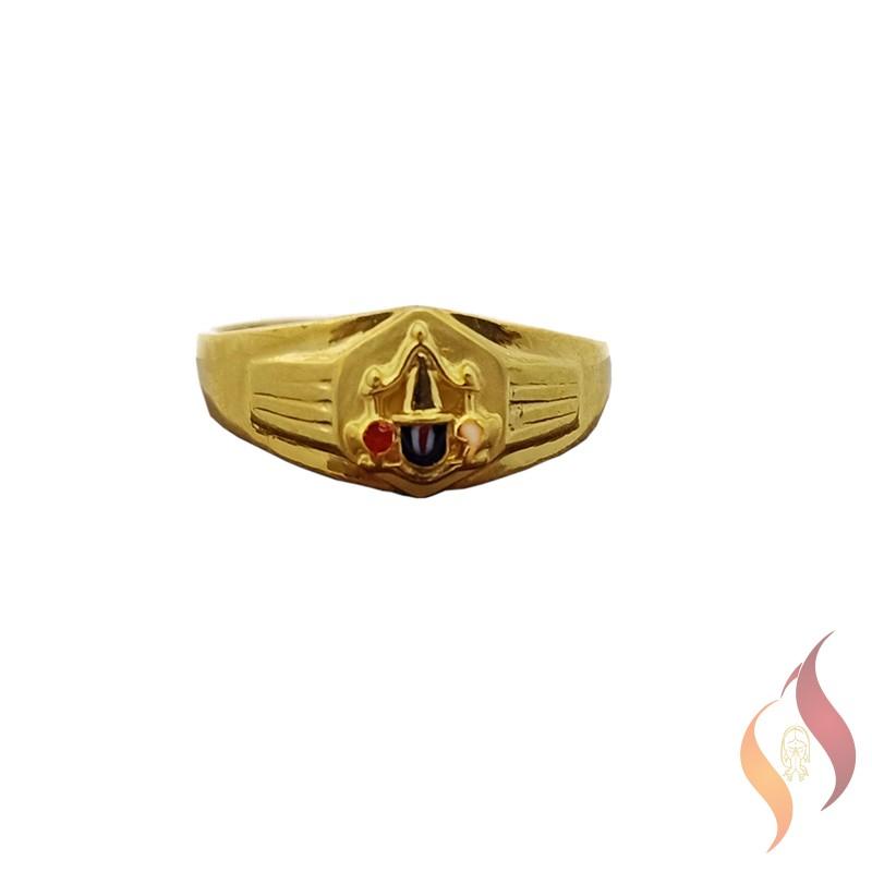 Gold Casting Perumal Ring 1040011