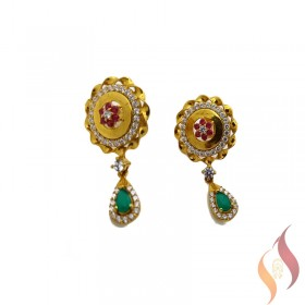 Gold Casting Ear Rings 1020007