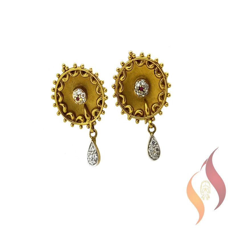 Gold Casting Ear Rings 1020010