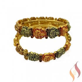 Gold Antique Bangles 1230009