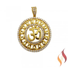 Gold Mens Sri Pendent 1310006