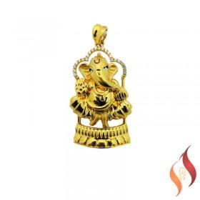 Gold Ganesh Pendent 1310016