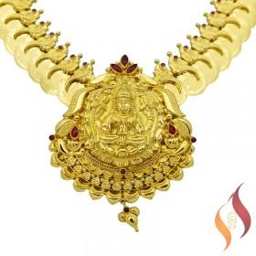 Gold Kasu Malai Set 1250041