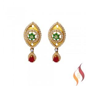 Gold Casting Ear Rings 1020018