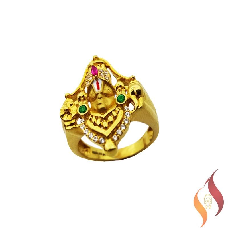 Gold Perumal Ring 1040013