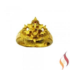 Gold Vinayagar Ring 1040016