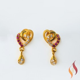 Gold Casting Earings 1020022