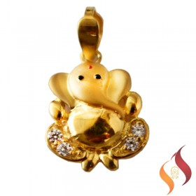 Gold Ganesha Pendent 1310020