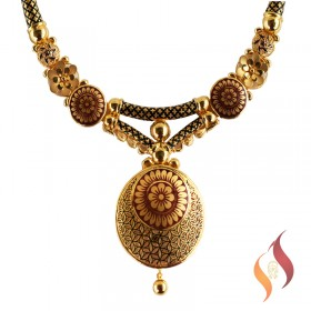 Gold Casting Necklace 1250054
