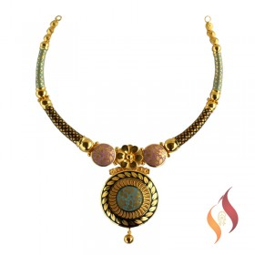 Gold Casting Necklace 1250055