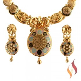 Gold Casting Necklace with Tupps 1250056
