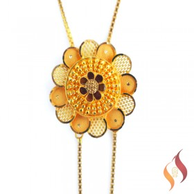 Gold Fancy NEcklace 1250060