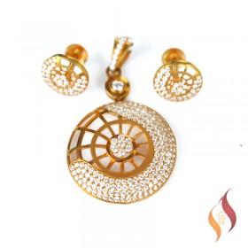 Gold Pendent Set 1310025