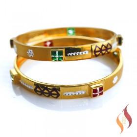 Gold Bangles 1230017