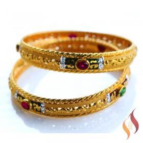 Gold Bangles 1230018