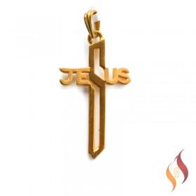 Gold Jesus Pendent 1310030