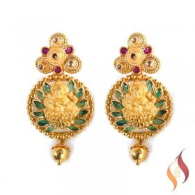 Gold Lakshmi Earings 1020035