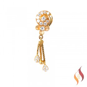 Gold Earrings 1020043