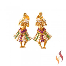 Gold Earrings 1020044