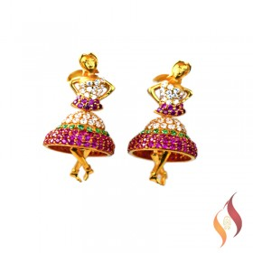 Gold Earrings 1020045