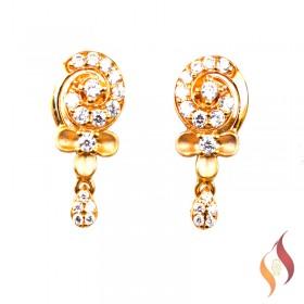 Gold Earrings 1020046