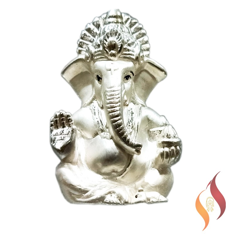 Silver Vinayagar Statue 0001