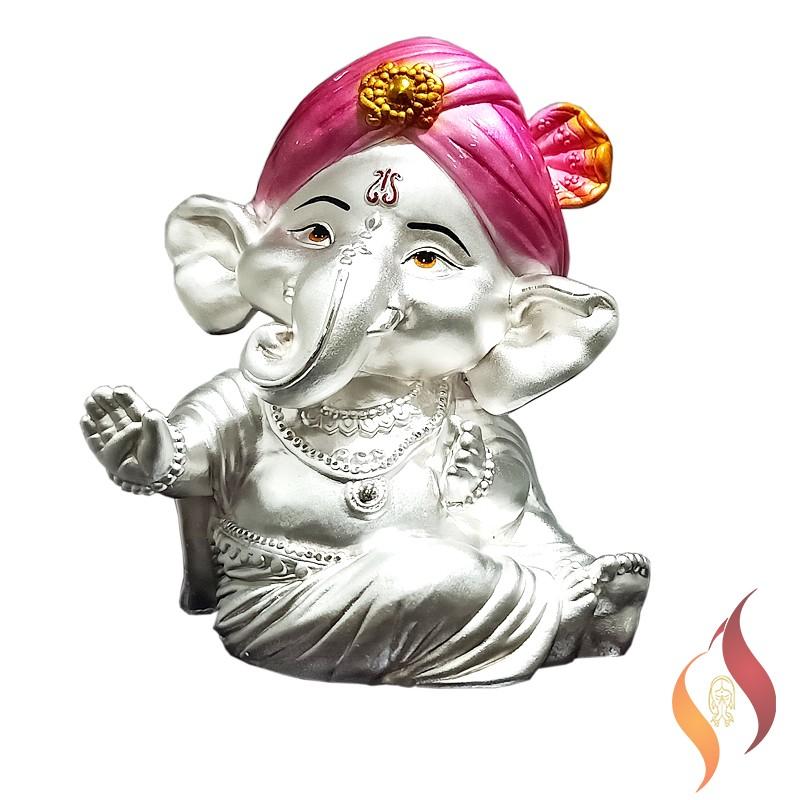 Silver Vinayagar Statue 0003