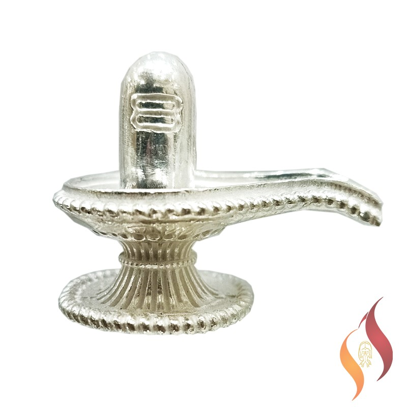 Silver Sivalinga Statue 0004