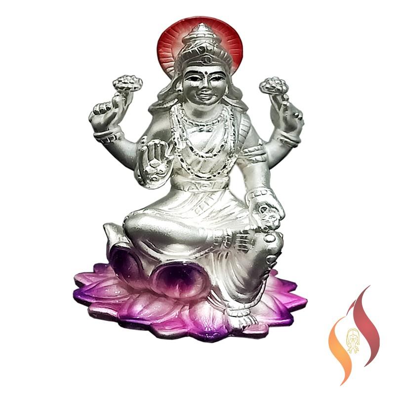 Silver Lakshmi Statue 0006