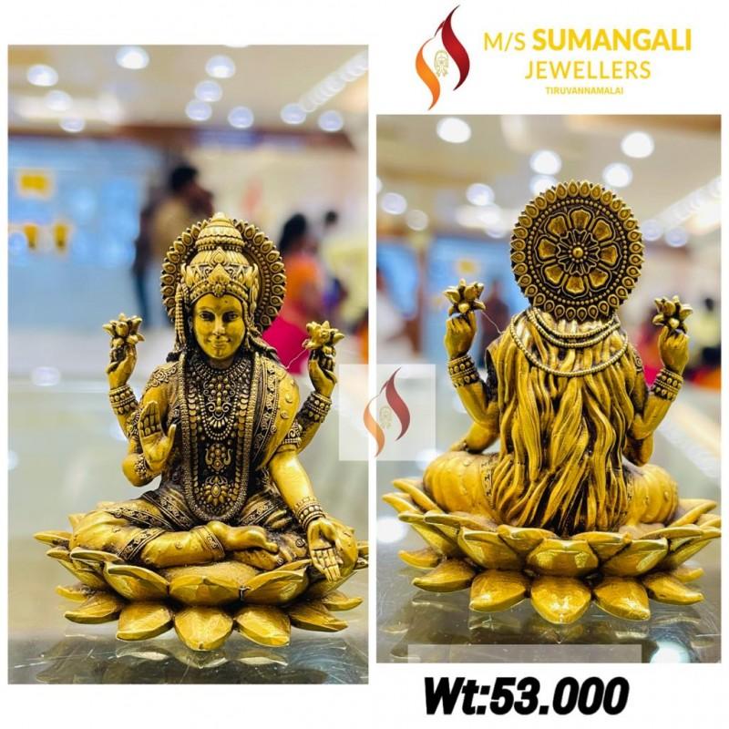 Gold Lakshmi Statue